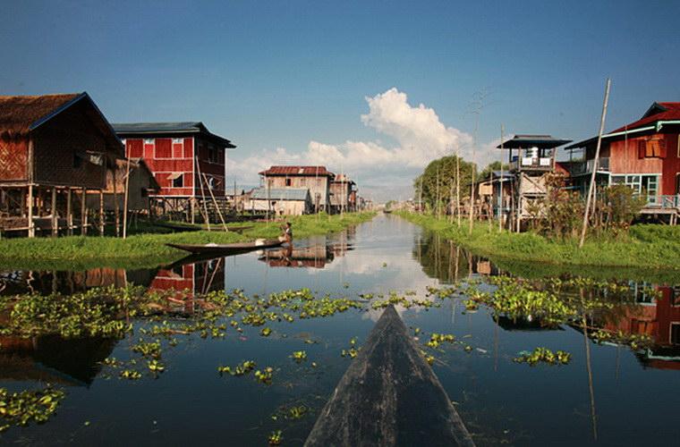 """碧山旅行-缅甸旅游-体验茵莱湖畔""""渔民""""的生活"""
