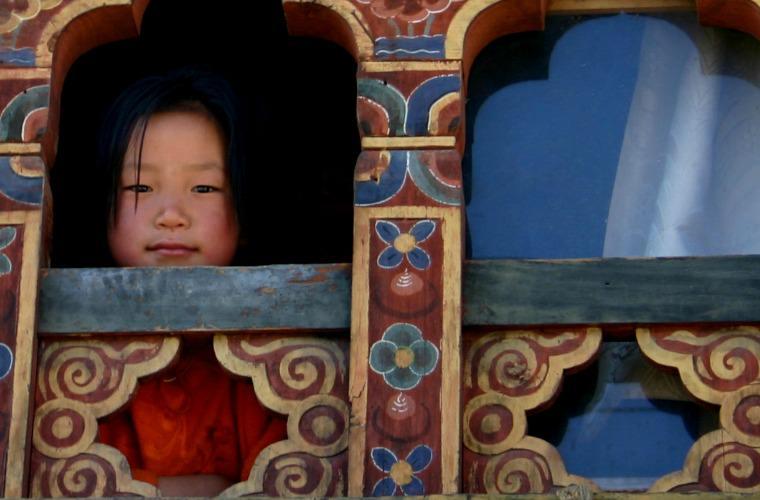 碧山旅行-不丹旅游-当地女孩