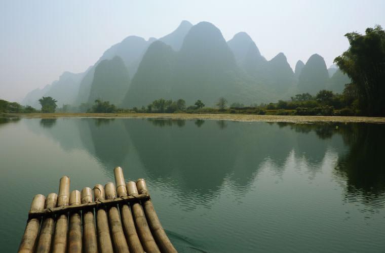 碧山旅行-竹筏漂流