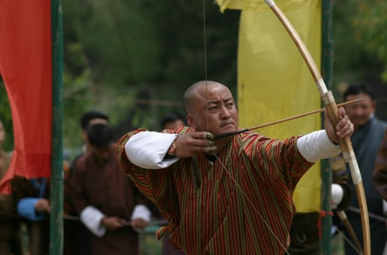 碧山旅行-不丹旅游-当地箭术